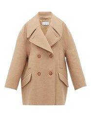 Raey Oversized Wool Pea Coat Camel