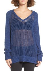 Roxy Women's Open Knit Cotton Pullover True Navy
