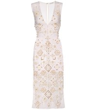 Altuzarra Pamplona Beaded Cotton Dress White