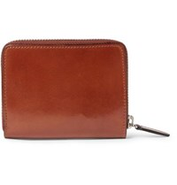 Il Bussetto Polished Leather Zip Around Wallet Tan