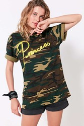 Bdg Princess Camo Tee Green