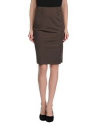 Schumacher Knee Length Skirts Brown