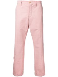 Sacai Square Pattern Trousers Pink Purple