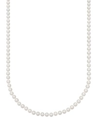 Belle De Mer Pearl Necklace 20' 14K Gold Aa Akoya Cultured Pearl Strand 6 6 1 2Mm