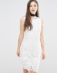 Darling Ailsa Embellished Bodycon Dress Cream