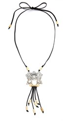 Laura Cantu Bolo Victorian Necklace Clear Silver