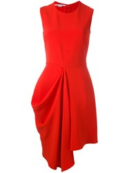 Stella Mccartney Fitted Flare Dress Red