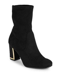 Karl Lagerfeld Karelle2 Faux Suede Ankle Boots Black