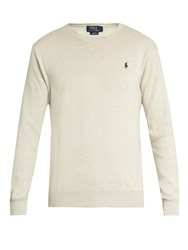 Polo Ralph Lauren Slim Fit Crew Neck Cotton Sweatshirt Grey