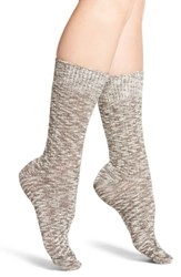 Treasure And Bond Boot Socks Brown Java Heather
