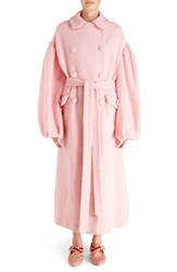 Simone Rocha Women's 'Sparkle' Long Wool Blend Coat