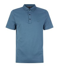 Michael Kors Logo Hardware Cotton Polo Shirt Male Blue