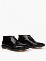 Adieu Black Leather Type 3 Zip Up Boots