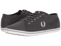 Fred Perry Kingston Twill Charcoal Dolphin Midnight Men's Lace Up Casual Shoes Black