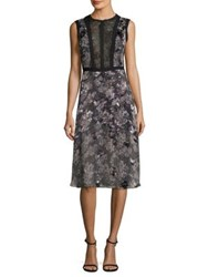 Yigal Azrouel Python Print Silk Dress Jet Multi
