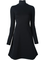 Dorothee Schumacher Roll Neck Flared Dress Black