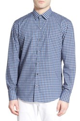 Zachary Prell 'Nover' Trim Fit Plaid Sport Shirt Blue