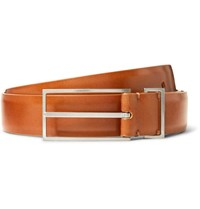 Maison Martin Margiela 3Cm Brown Leather Belt Brown