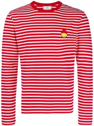 Ami Alexandre Mattiussi T Shirt Smiley Patch Red