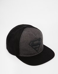 Asos Superman Snapback Cap In Black