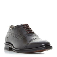Oliver Sweeney Mallory Toecap Punch Detail Gibson Shoes Black