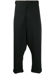 Alchemy Drop Crotch Tailored Trousers Black