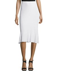 Theory Jurilo Prosecco Ribbed Knit Pencil Skirt White