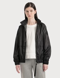 Moncler Lightweight Nylon Jacket With Packable Hood Black