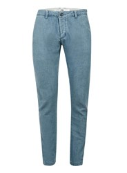 Topman Blue Cotton Skinny Jeans