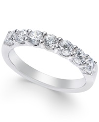 Macy's Certified Diamond Seven Stone Band 1 Ct. T.W. In Platinum No Color
