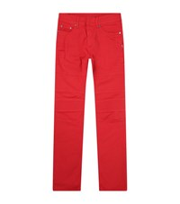 Neil Barrett Skinny Biker Jeans Male Red