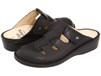 Finn Comfort Java 2520 Black Nappa Leather Women's Clog Shoes