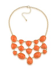 1St And Gorgeous Multi Shape Studded Bib Necklace Gold
