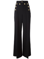 Red Valentino Wide Leg Trousers Blue