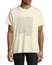 Ovadia And Sons The Hidden Place Typographic T Shirt Off White