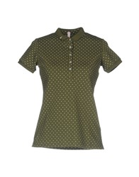 Sun 68 Polo Shirts Military Green