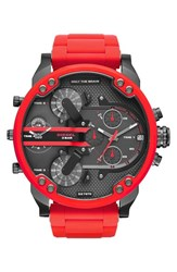 Men's Diesel 'Mr. Daddy' Chronograph Silicone Strap Watch 57Mm