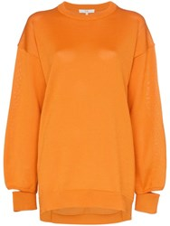 Tibi Oversized Knitted Jumper Orange