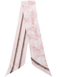 Bally Crest Print Scarf Pink