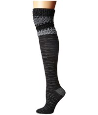 Smartwool Built Up Beehive Over The Knee Black Women's Thigh High Socks Shoes