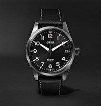 Oris Big Crown Pro Pilot Automatic 41Mm Stainless Steel And Leather Watch Black