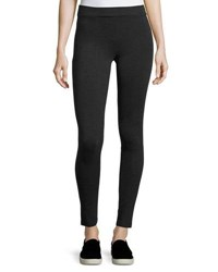 Vince Slim Seamed Ponte Leggings Charcoal