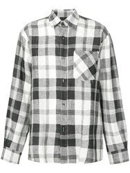 Andrea Ya'aqov Oversized Checked Shirt Black