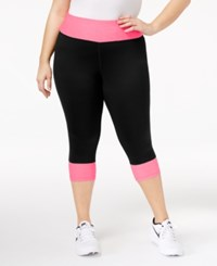 Ideology Plus Size Colorblocked Cropped Leggings Only At Macy's Molten Pink