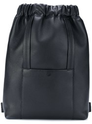 Maison Martin Margiela Sailor Backpack Calf Leather Polyester Black