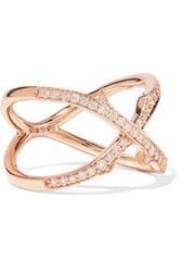 Stephen Webster Thorn Stem 18 Karat Rose Gold Diamond Ring 7