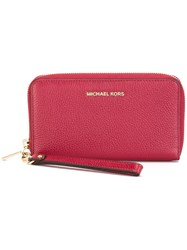 Michael Michael Kors Zip Around Wallet Red