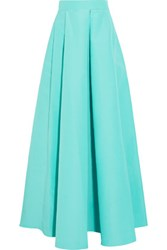 Roksanda Ilincic Alia Cotton And Silk Blend Maxi Skirt Turquoise