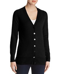 Bloomingdale's C By Cashmere Grandfather Cardigan 100 Exclusive Black