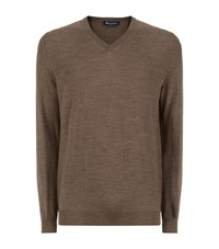 Aquascutum London Aquascutum Merino Wool V Neck Sweater Male